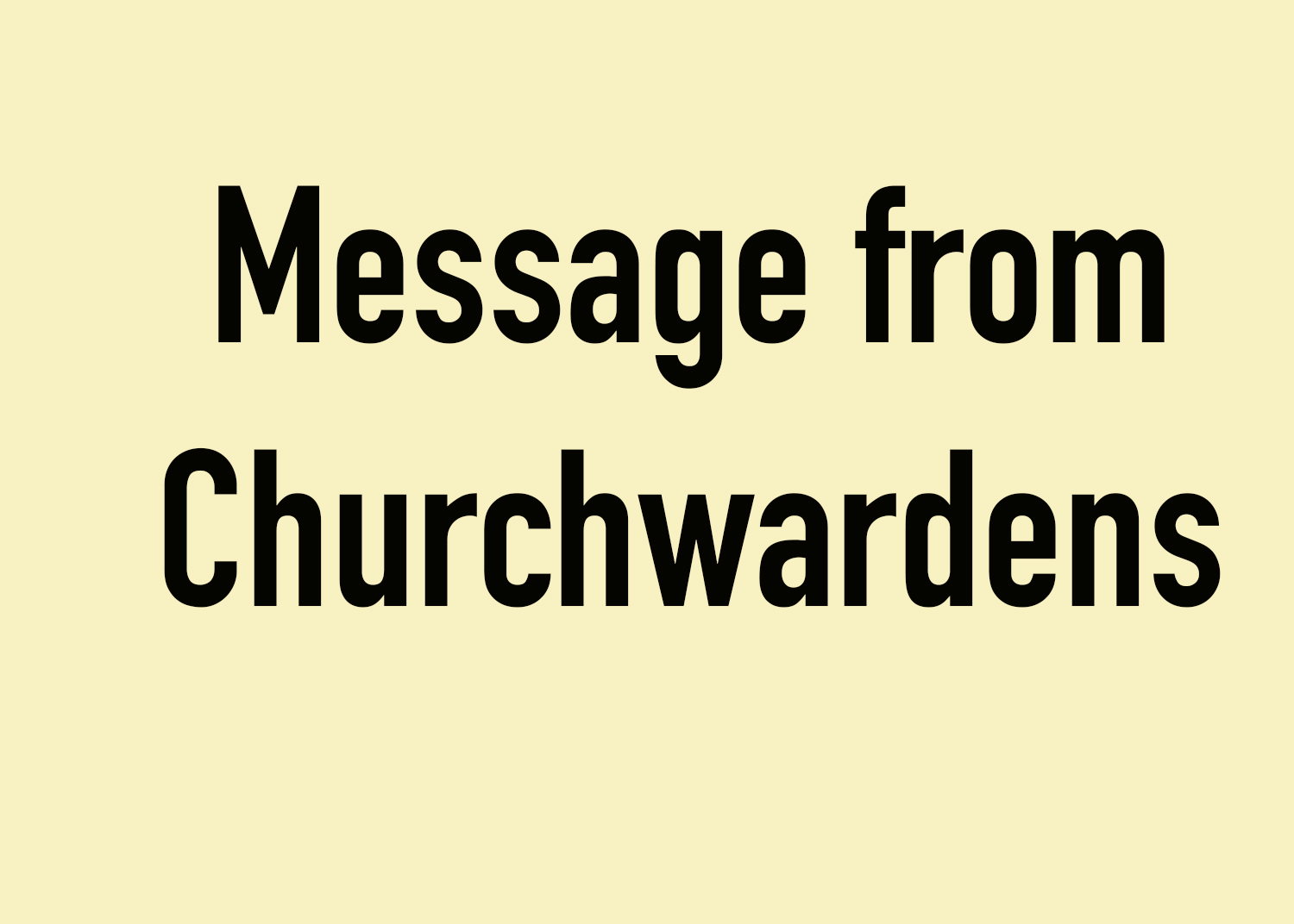 Churchwardens thank Father John and Anne.